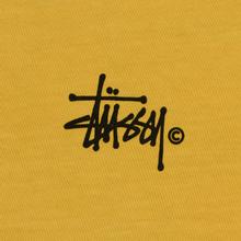 Женский лонгслив Stussy Basic Logo Pigment Dyed Mustard фото- 2