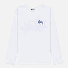 Женский лонгслив Stussy Basic Logo White фото- 0
