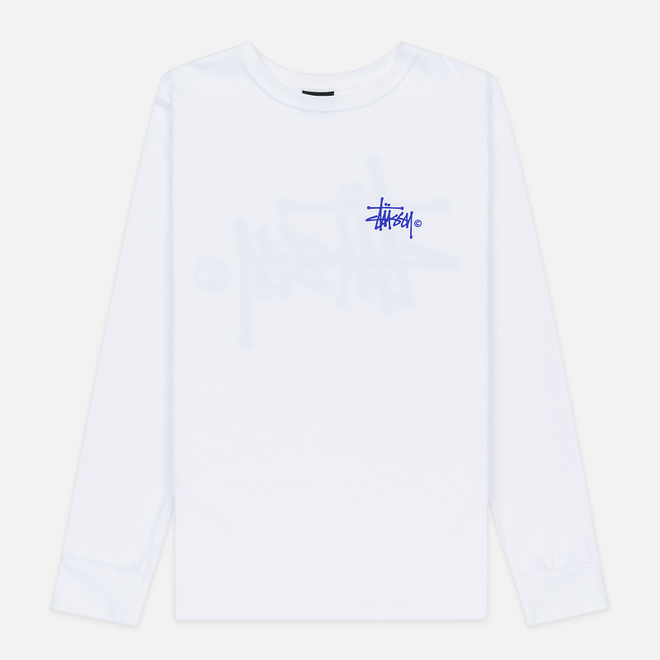 Женский лонгслив Stussy Basic Logo White