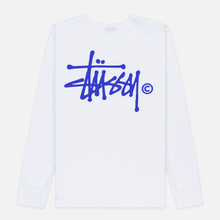 Женский лонгслив Stussy Basic Logo White фото- 4
