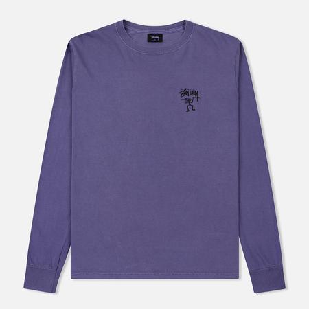 Женский лонгслив Stussy Warrior Man Pigment Dyed Purple