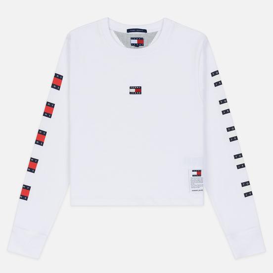 Женский лонгслив Tommy Jeans Heritage Classic White