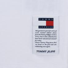Женский лонгслив Tommy Jeans Heritage Classic White фото- 3