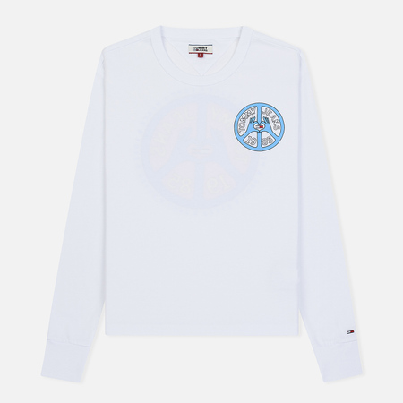 Женский лонгслив Tommy Jeans Peace And Love Classic White
