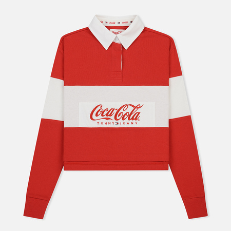 Женский лонгслив Tommy Jeans x Coca-Cola Crop Rugby Red