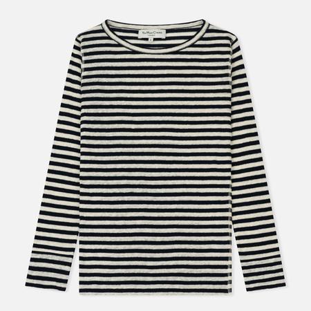 Женский лонгслив YMC Charlotte Stripe Linen Jersey Small Navy/Ecru