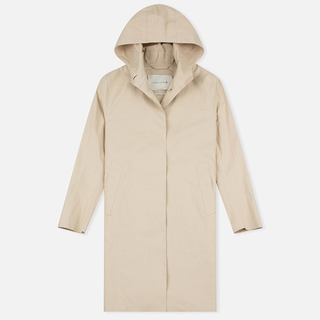 Mackintosh LR-003 Single Breasted Hooded Women's Coat Putty
