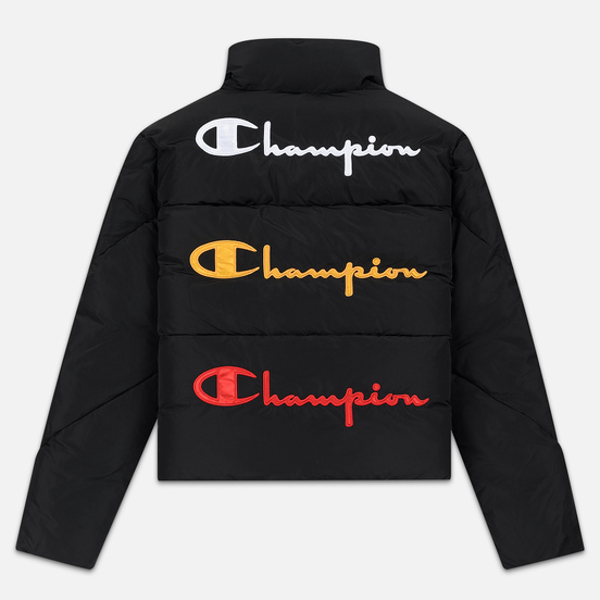 Женский пуховик Champion Reverse Weave Back Script Puff Black