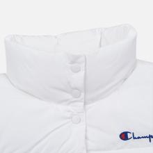 Женский пуховик Champion Reverse Weave Back Script Puff White фото- 3