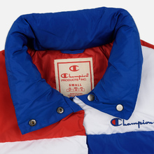 Женский пуховик Champion Reverse Weave Color Block Puff Blue/Red/White фото- 1