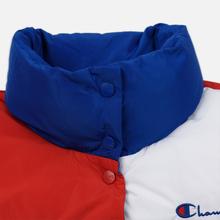 Женский пуховик Champion Reverse Weave Color Block Puff Blue/Red/White фото- 3
