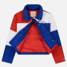Женский пуховик Champion Reverse Weave Color Block Puff Blue/Red/White фото- 2