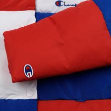 Женский пуховик Champion Reverse Weave Color Block Puff Blue/Red/White фото- 5
