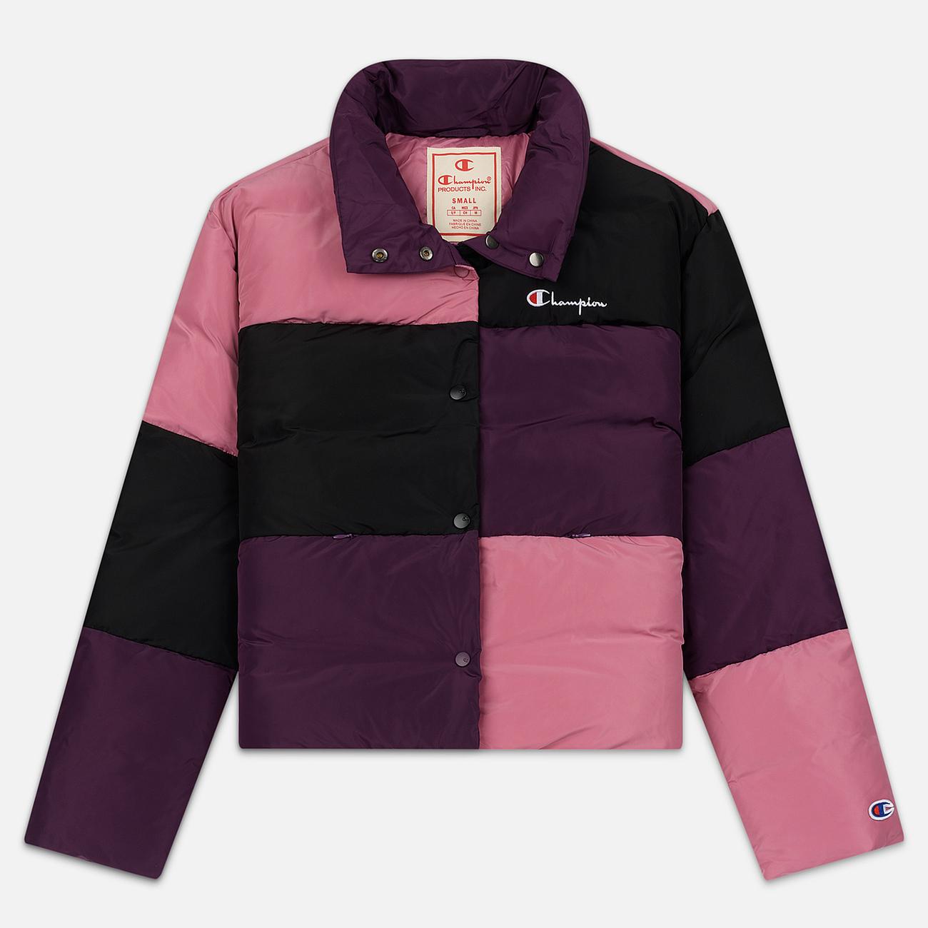 Женский пуховик Champion Reverse Weave Color Block Puff Violet/Pink/Black