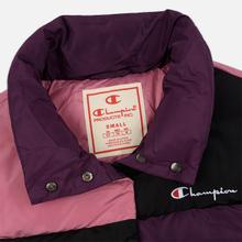 Женский пуховик Champion Reverse Weave Color Block Puff Violet/Pink/Black фото- 1