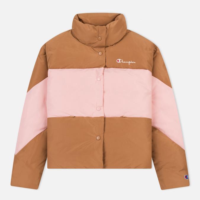 Женский пуховик Champion Reverse Weave Down Camel/Pink