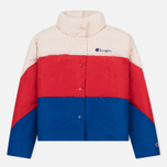 Женский пуховик Champion Reverse Weave Down White/Red/Blue фото- 0
