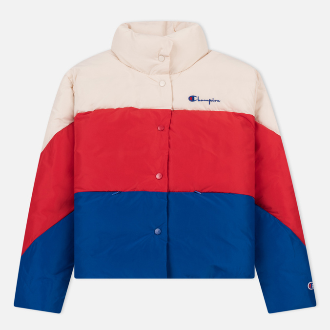 Женский пуховик Champion Reverse Weave Down White/Red/Blue