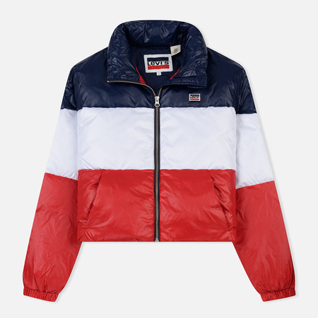 Женский пуховик Levi's Short Puffer Peacoat Colorblock