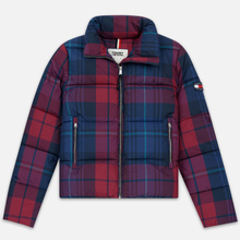 Женский пуховик Tommy Jeans Cotton Check Puffa Blue Print/Multi Check фото- 0