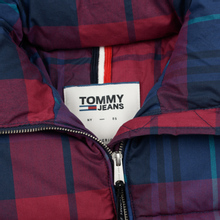 Женский пуховик Tommy Jeans Cotton Check Puffa Blue Print/Multi Check фото- 1
