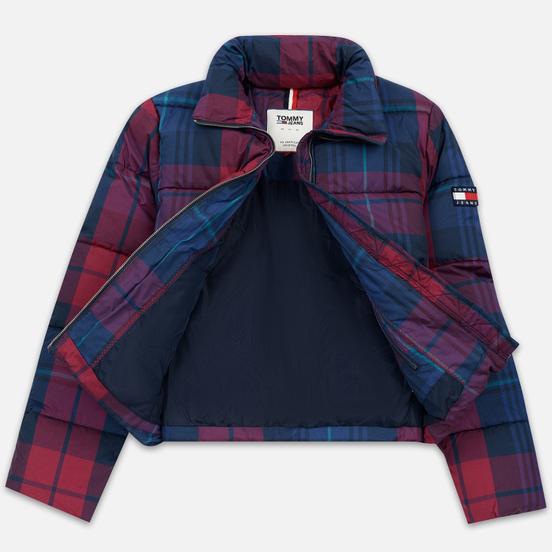 Женский пуховик Tommy Jeans Cotton Check Puffa Blue Print/Multi Check