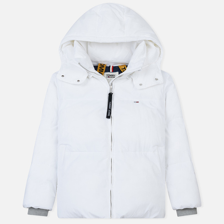Женский пуховик Tommy Jeans Oversized Puffa Bright White