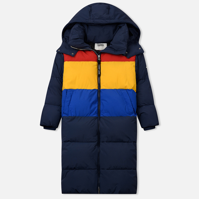 Женский пуховик Tommy Jeans Oversized Puffa Coat Black Iris/Multi
