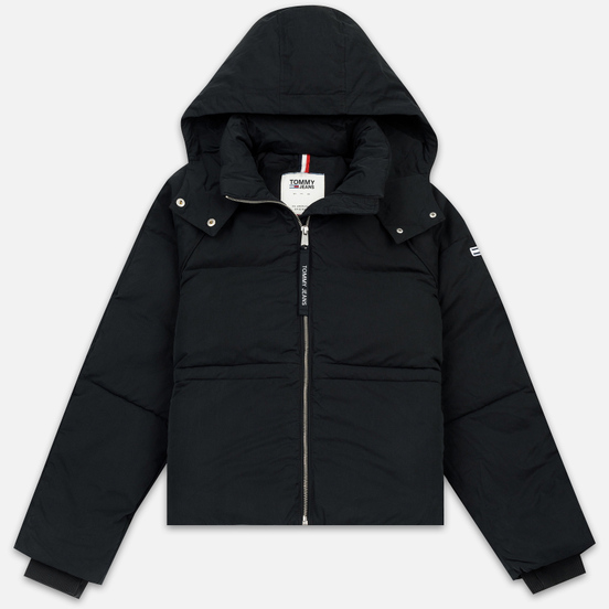 Женский пуховик Tommy Jeans Tommy Detail Puffa Hooded Black