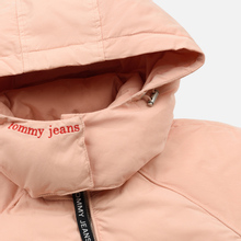 Женский пуховик Tommy Jeans Tommy Detail Puffa Hooded Pink Sand фото- 2