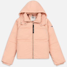 Женский пуховик Tommy Jeans Tommy Detail Puffa Hooded Pink Sand фото- 0