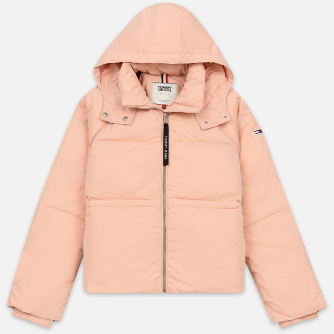 Женский пуховик Tommy Jeans Tommy Detail Puffa Hooded Pink Sand