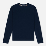 Женский свитер Aquascutum May Club Check Trim Crew Neck Navy фото- 0