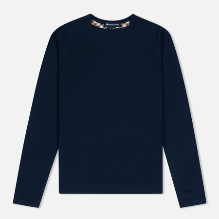 Женский свитер Aquascutum May Club Check Trim Crew Neck Military Green