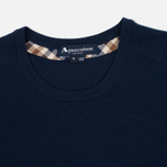 Женский свитер Aquascutum May Club Check Trim Crew Neck Navy фото- 1