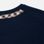 Женский свитер Aquascutum May Club Check Trim Crew Neck Navy фото- 4