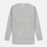Barbour Women's Sweater Heritage Cloudy Crew Neck Grey Marl photo- 0