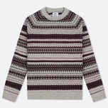 Женский свитер Barbour Heritage Felted Fairisle Crew Grey Marl фото- 0