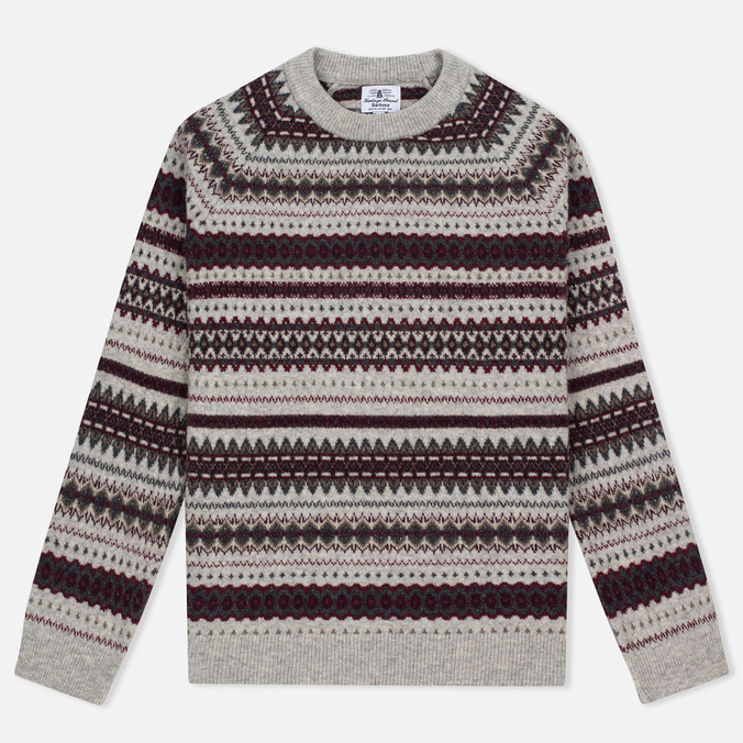 Женский свитер Barbour Heritage Felted Fairisle Crew Grey Marl