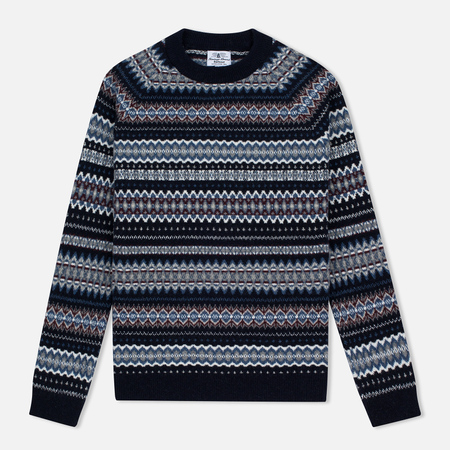 Barbour Heritage Felted Fairisle Crew Women's Sweater Navy