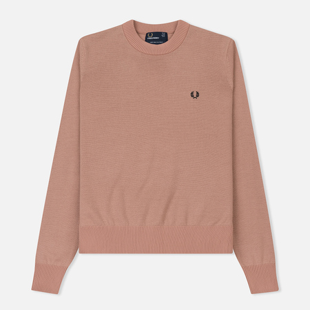 Женский свитер Fred Perry Classic Crew Neck Grey Pink