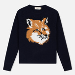 Женский свитер Maison Kitsune Fox Head Navy фото- 0