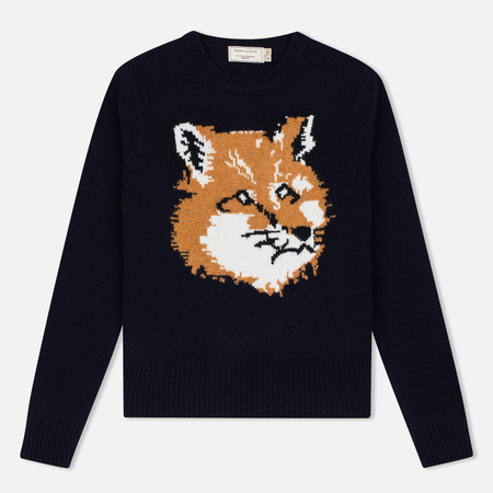 Maison Kitsune Fox Head Women's Sweater Navy