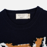 Женский свитер Maison Kitsune Fox Head Navy фото- 1