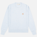 Женский свитер Maison Kitsune Merinos Fancy R-Neck Light Blue Melange фото- 0