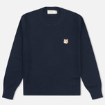 Женский свитер Maison Kitsune Merinos Fancy R-Neck Navy фото- 0