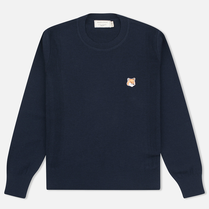 Женский свитер Maison Kitsune Merinos Fancy R-Neck Navy