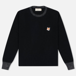 Женский свитер Maison Kitsune Merinos R-Neck Black фото- 0