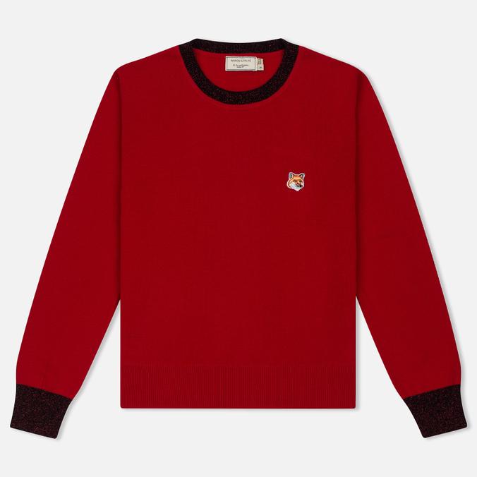 Женский свитер Maison Kitsune Merinos R-Neck Red
