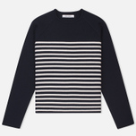 Женский свитер Norse Projects Eydis Spongy Stripe Dark Navy фото- 0